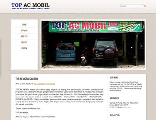 Top AC Mobil – Website Bengkel AC Mobil