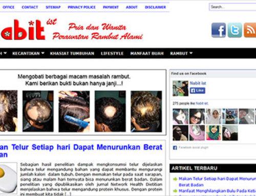 CV. Nabit – Website Perawatan Rambut